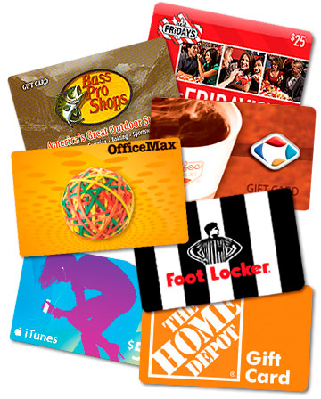 Gift cards at Town & Country Supermarkets